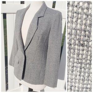 VTG 100% Wool Gray Tweed Blazer Pendleton Size 8